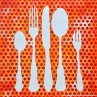 Knife, fork and spoon II by anguana