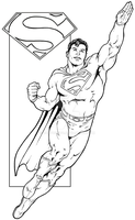 Last Son Of Krypton - Inked by corvus1970