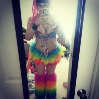 Rave Rainbow Dash 1 by Lily-Lithium