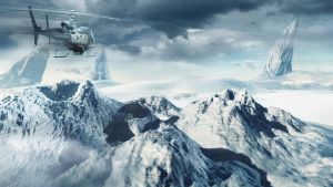 mountains and  helicopter by Dejano23