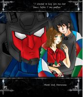 Starscream and Alexis by giacbk