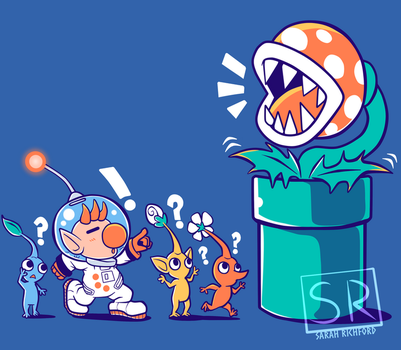 Wrong Planet - Pikmin Shirt design by SarahRichford