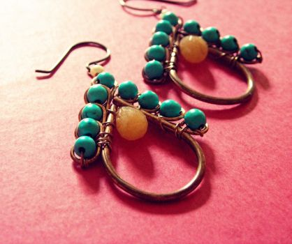 Gum Drop Earrings by pikabee