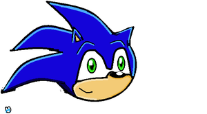 Sonic's head by monicahedgie