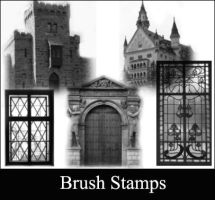 Castle brushes stamps by Lileya