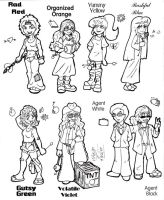 Color me Contest RAINBOW GIRLS by TTSnim