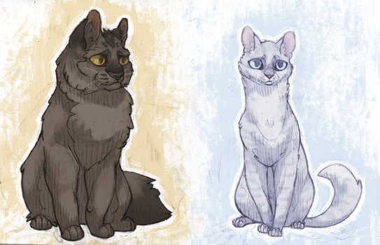 Greystripe and Silverstream V by Boisk