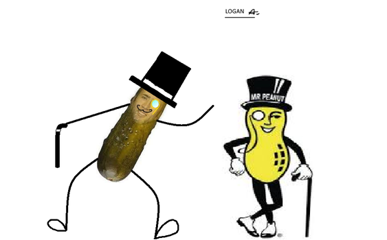 Pickolas Cage and Mr. Peanut by HarmonyClawDraws