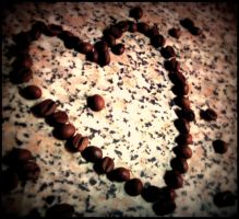Coffee beans heart by DOLLwithTHEglassLOOK