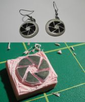 Aperture Science Logo Earrings by ChibiSilverWings