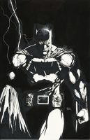 Dark Knight after Finch inked by Ace-Continuado