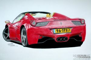 Ferrari 458 Spider by SD1-art