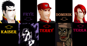 All my OCs by TerryRed