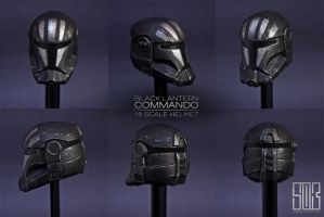 Black Lantern Commando Helmet (1:6 Scale) by darthrith