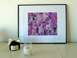 Purple Abstract Painting by Lady-Kiwi