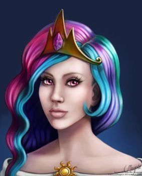 Princess Celestia by LaurenMagpie