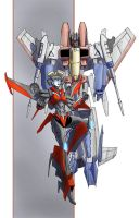 Starscream and Windblade Botcon 2014 print by TGping