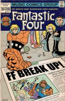 Fantastic Four Break Up by BillWalko