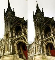 Otago ClockTower Stereo Pano by digitalJackalnz