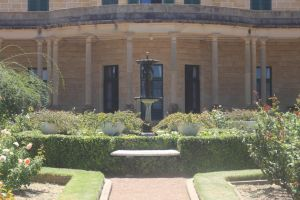 Manor House and Water Fountain Stock by foq-stocks