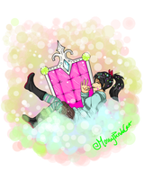 AT: Vanellope just chillin' by mosspelthasUlquiorra