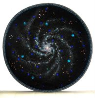 Seautiful space spiral galaxy beadwork embroidery by SOFIAMETALQUEEN