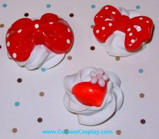 Red resin sweets rings by The-Cute-Storm