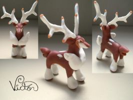 586 Sawsbuck Winter by VictorCustomizer