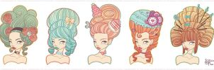 Marie Antoinette Hair Style Experiment by MeoMai