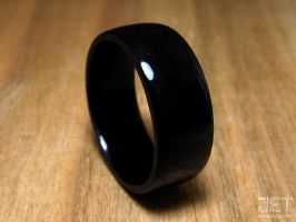 Black Ebony Bentwood Ring by SycoClown