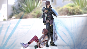 Lightning and Serah - Failed Render by Kukla-Factory