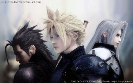 Zack Cloud and Sephiroth by Hadaccah