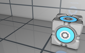 Portal Cube Wallpaper by younggeorge