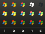 Windows Logo Orbs x5 by davidm147