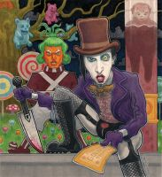 Marilyn Manson as Willy Wonka by McQuade