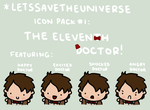 Eleventh Doctor Icon Pack by LetsSaveTheUniverse