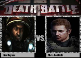 Death Battle: Jim Raynor vs Chris Redfield by alienhominid2000