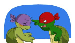TMNT: poking by NamiAngel