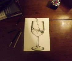 Glass of water by RomiaNyan