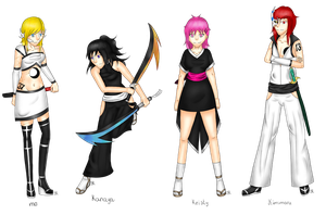 Bleach oc's by bleding-rose