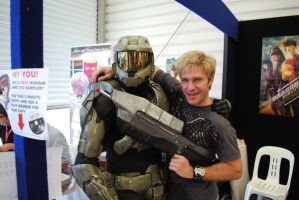 Vic Mignogna and Master Chief by p0rtalman