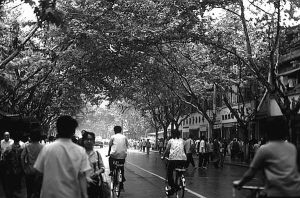 China Shanghai street 1970s by BlackWhitePictures