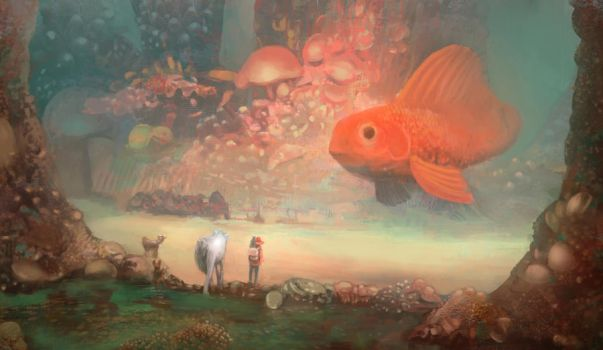 The journey and the big fish by Mocaran