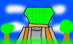 Master Emerald made from Color 3D by MarioBlade64