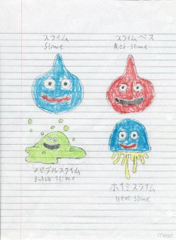 Slimes, by Wes by dragon-quest