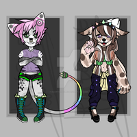 Anthro Hybrid Adopts ~OPEN~ $5 / 500 p each by Esarts-Adopts