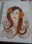 Water colour Art Nouveau-y girl... by julezz30