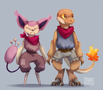 Mystery Dungeon battle pals by SabreBash