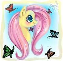 Fluttershy :: So Cute by PauuhAnthoTheCat