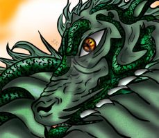 Green Dragon by EchoesLonelyWhirl